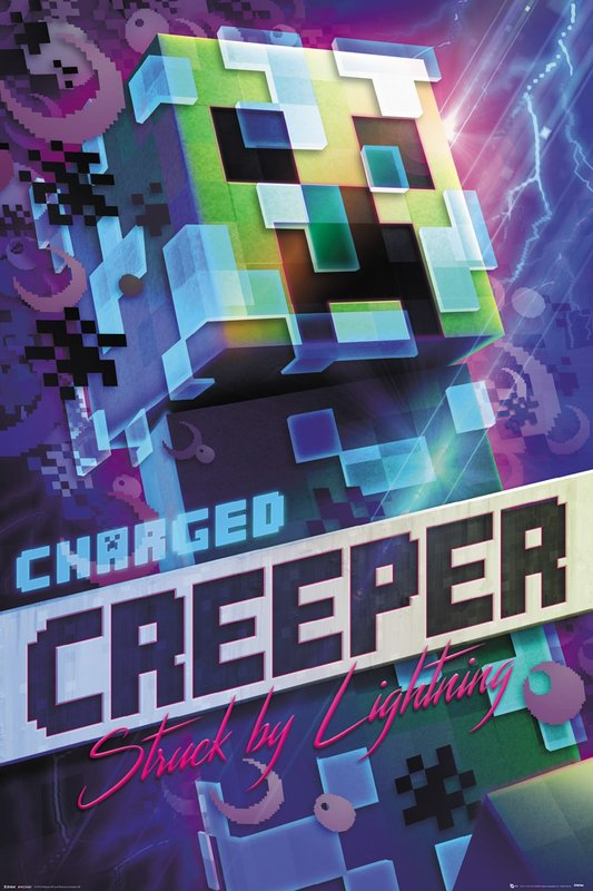 Minecraft: Maxi Poster - Charged Creeper (1025)