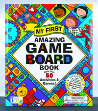 My First Amazing Game Board Book: More Than 50 Activities and Games! by Shereen Gertel Rutman image