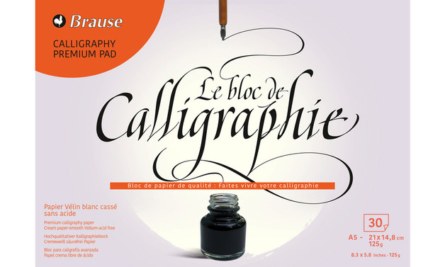 Brause: Calligraphy Pad - A5 (30 Sheets)