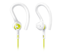 Philips: Earbud Sports Action Fit Headphones - white