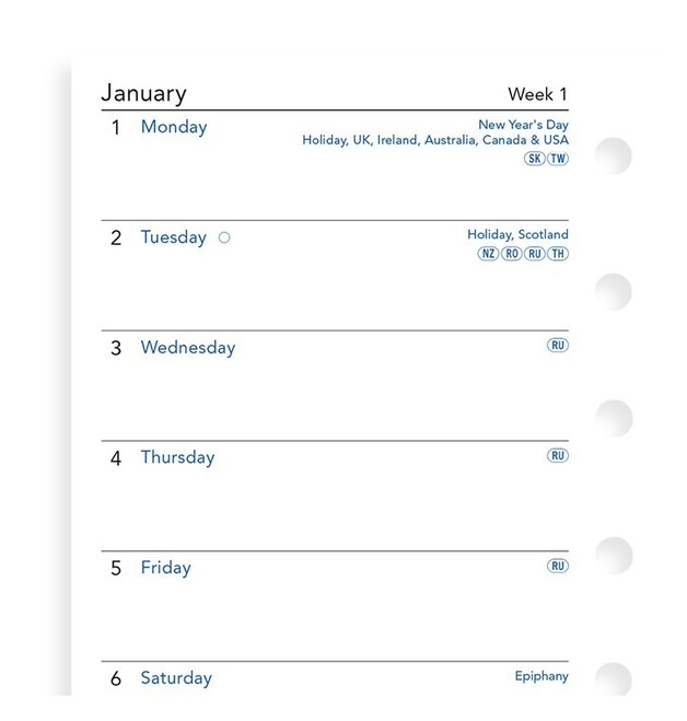 Filofax: Pocket 2020 Refill - Week per Page (Unlined)
