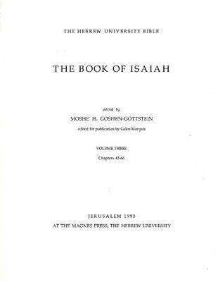 Book of Isaiah: Volume III: Chapters 45-66