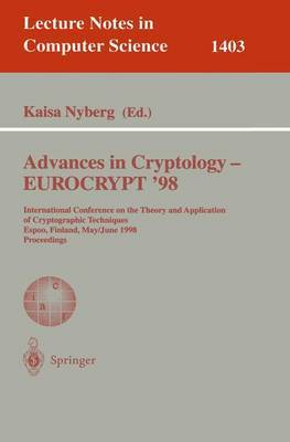 Advances in Cryptology - EUROCRYPT '98