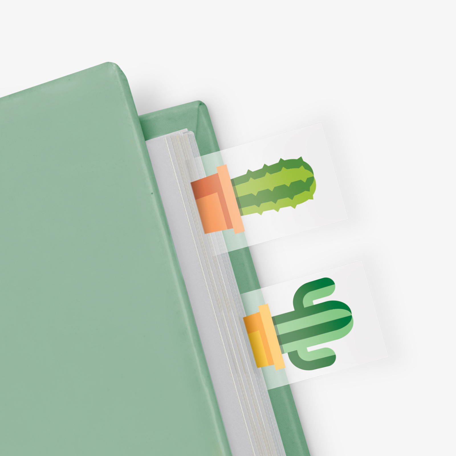 Cactus in a Book - Themed Page Markers (100 sheets) image