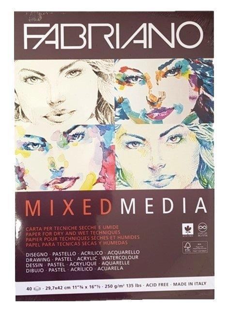 Fabriano: Mixed Media Pad - A3 250gsm (40 Sheets)