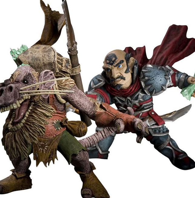 World of Warcraft Figure Set - Gnome Rogue vs Kobold Miner (series 8) image