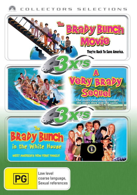 3x's - Brady Bunch Movie / Very Brady Sequel / Brady Bunch In The White House (Collectors Selections) (3 Disc Set) on DVD