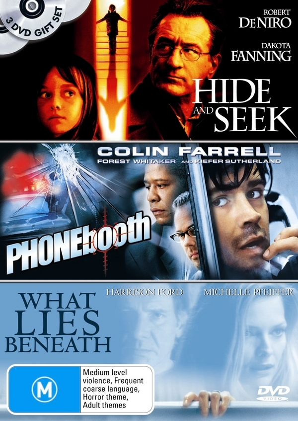 Hide And Seek / Phone Booth / What Lies Beneath (3 Disc Set) on DVD image