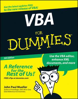 VBA For Dummies by John Paul Mueller
