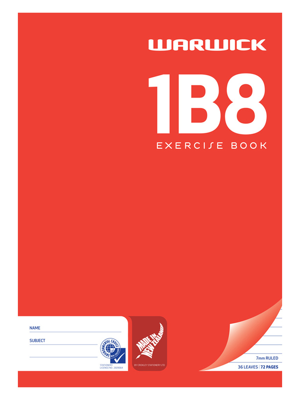 Warwick 1B8 36lf A4 Unpunched Ruled Exercise Book