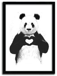 Balazs Solti Framed Illustration - All You Need is Love