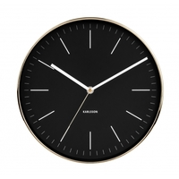 Karlsson Wall Clock - Minimal (Gold/Black)