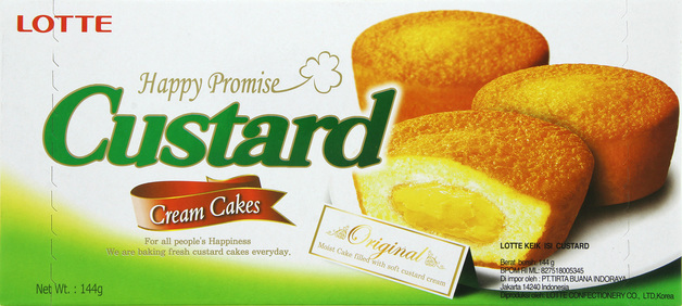 Lotte Custard Cream Cakes (72 Pieces)