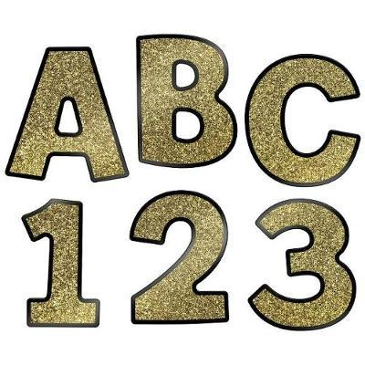 Sparkle and Shine Gold Glitter Combo Pack EZ Letters image