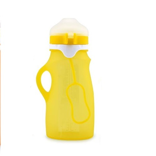 Haakaa: Silicone Feeding Squishy Bottle - Yellow (250ml)