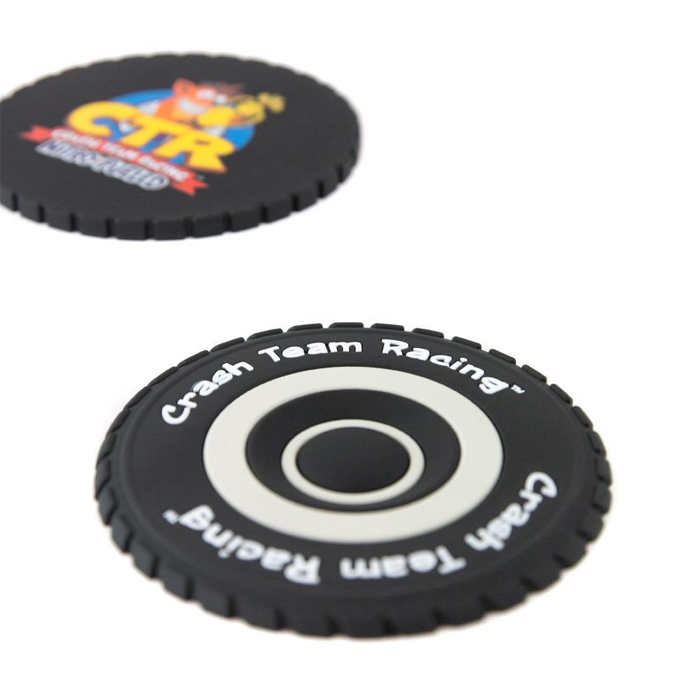 Crash Team Racing Tyre Coasters (4 Pack) image