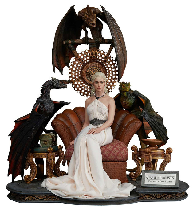 "Game of Thrones: Daenerys Targaryen (Mother of Dragons) - 24"" Premium Statue"