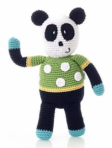 Pebble: Crochet Spotty Panda Rattle
