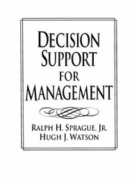 Decision Support for Managers by Ralph H. Sprague image
