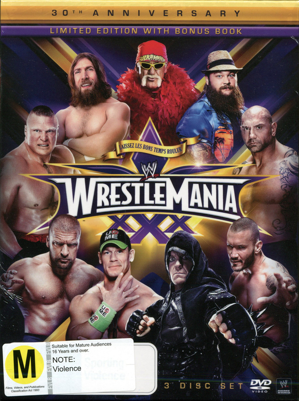 WWE Wrestlemania 30 - Collector's Edition/Book on DVD