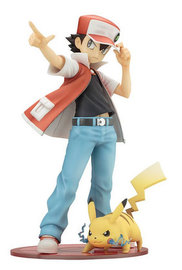 Pokemon: 1/8 Red with Pikachu - ARTFX-J Figure (Re-Issue)