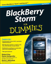 BlackBerry Storm For Dummies by Robert Kao image