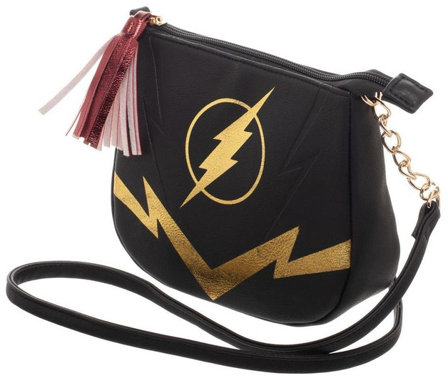 DC Comics: Flash Black & Gold - Crossbody Bag