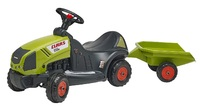 Falk: Claas Baby Tractor - With Trailer