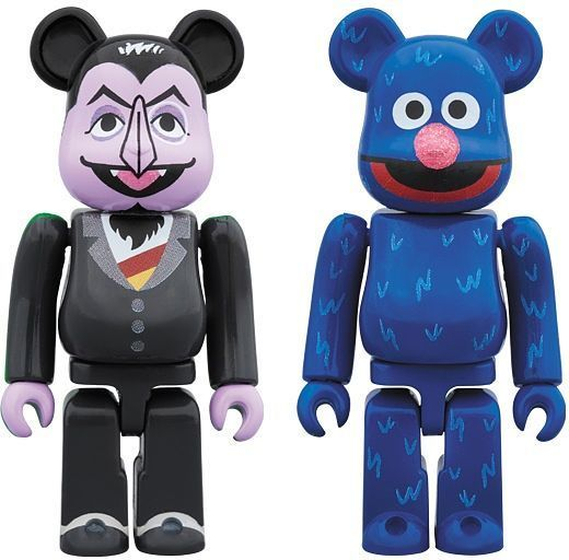 Be@rbrick: Sesame Street: Count Von Count & Grover - Mini Figure (2pc Set)