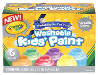 Washable Metallic Paint Pack 6 Colours - Crayola