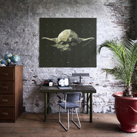 Star Wars Yoda Wall Art (100cm x 80cm)