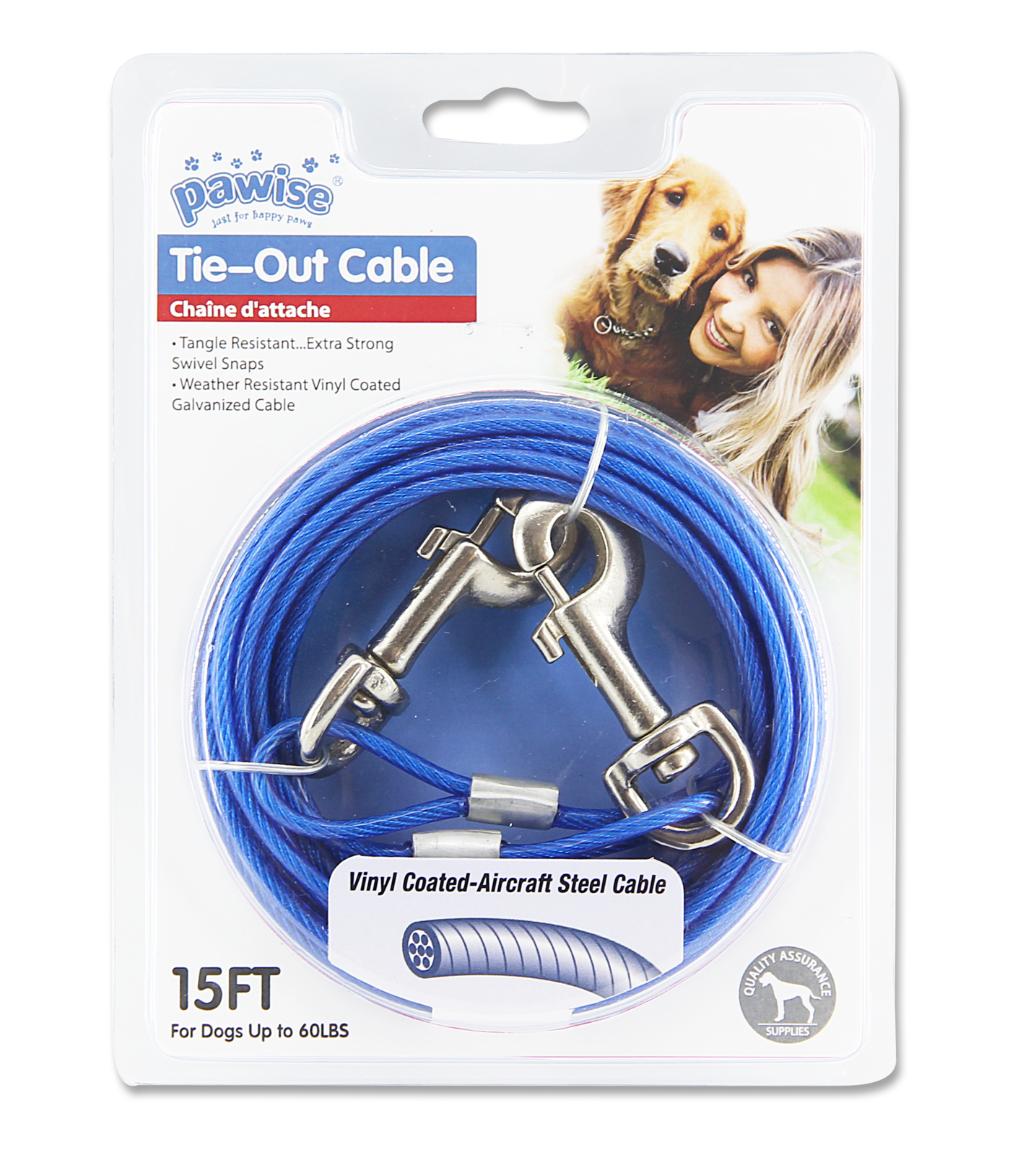 Pawise: Tie Out Cable Red/Blue Assorted image