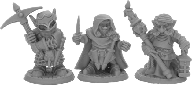 Dark Heaven: Bones Black - Deep Gnome Warriors (3)