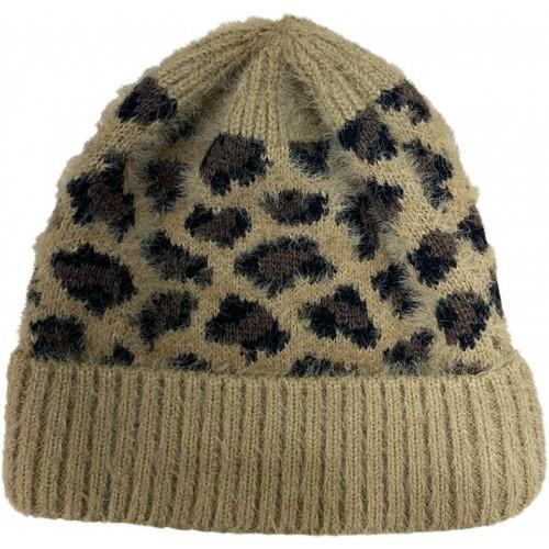 Leopard Beanies - Tan