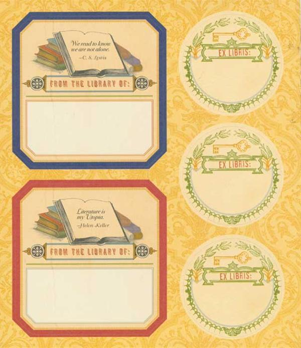 Antiquarian Bookplates: 55 Bookplates to Personalise Your Library by Potter Style image