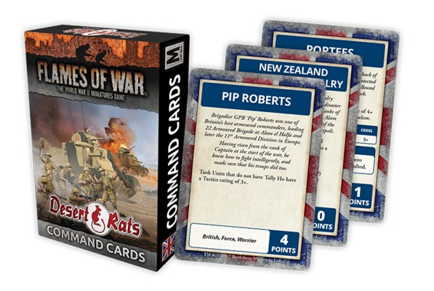 Flames of War: Desert Rats - Command Cards