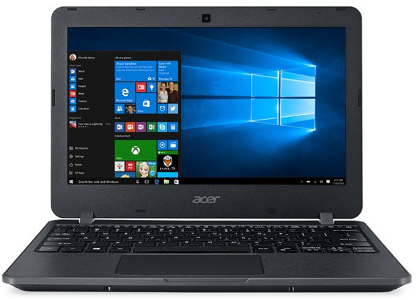 "Acer TravelMate B117 PRO 11.6"" N3160 4GB 128GB SSD W10Pro Academic 3Yr Rugged"