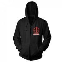 Deadpool Zipped Hooded Sweater - Logo (Medium)