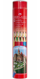 Faber-Castell Classic: Coloured Pencils - Tin of 12