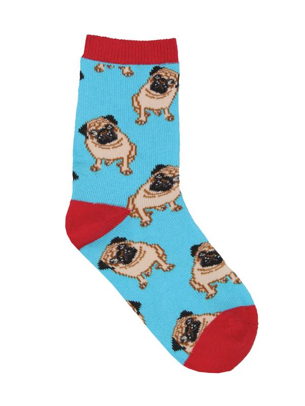 Socksmith: Kids Pug - Blue (2-4 Years)