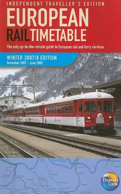 European Rail Timetable Independent Travellers: 2007/2008: Winter image