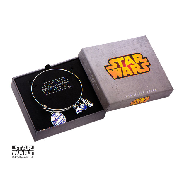 Star Wars R2D2 Stainless Steel Expandable Bracelet