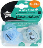 Closer to Nature Any Time Soother 6-18 Months (Lets Explore) - 2 Pack