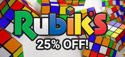 25% off Rubik's Cube Toys!