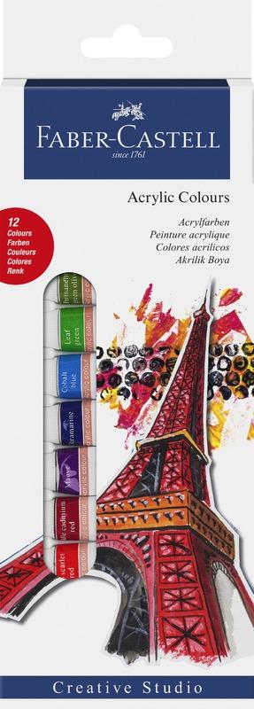 Faber-Castell: Starter Set Acrylic Colours Box (12 Pcs)