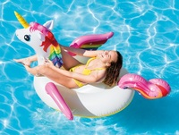 "Intex: Unicorn Ride-On - Inflatable Lounger (79"" x 55"")"