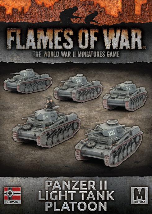 Flames of War: Panzer II Light Tank Platoon