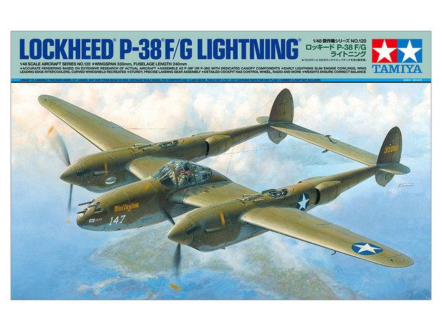 Tamiya: 1/48 Lockheed P-38 F/G Lightning - Model Kit