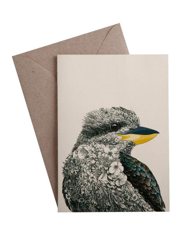 Maxwell & WIlliams: Marini Ferlazzo Birds Greeting Cards - Kookaburra