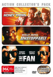 Action Collector's Pack (Money Train / Unstoppable / Fan) (3 Disc Set) on DVD